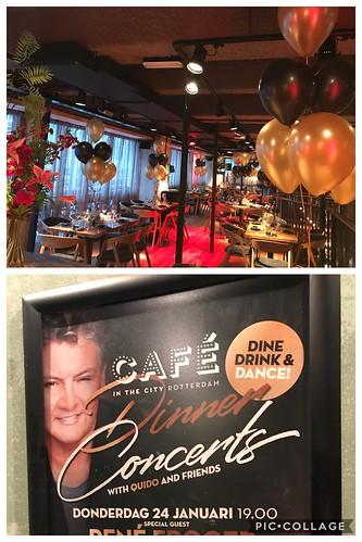 Tafeldecoratie 6ballonnen Cafe in the City Rene Froger