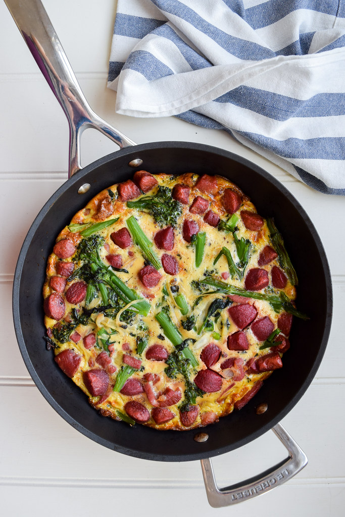 Bacon, Beetroot and Broccoli Frittata