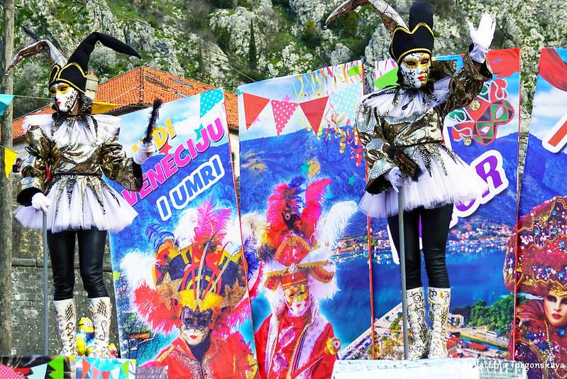 """Выступление группы """"Za dešpet"""" на карнавальном шествии"""