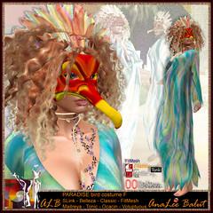 ALB PARADISE bird costume F by AnaLee & Manheim children - Lamu Group (ALB) gift - FREEBIE