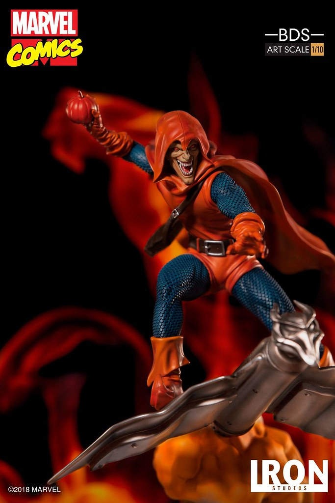 Iron Studios Battle Diorama 系列 Marvel Comics【暴魔】Hobgoblin 1/10 比例決鬥場景雕像作品
