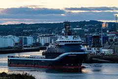 Highland Defender Leaving Aberdeen Harbour 30/12/2018