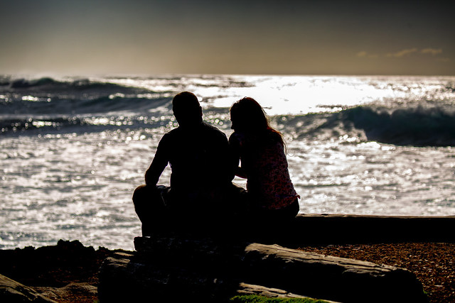 A Couple Enjoys The Hawaiian Views
