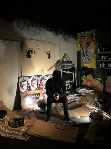 Recreación del estudio de Banksy