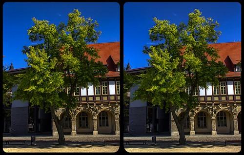 Rathaus Halberstadt 3-D / Kreuzblick / Stereoskopie