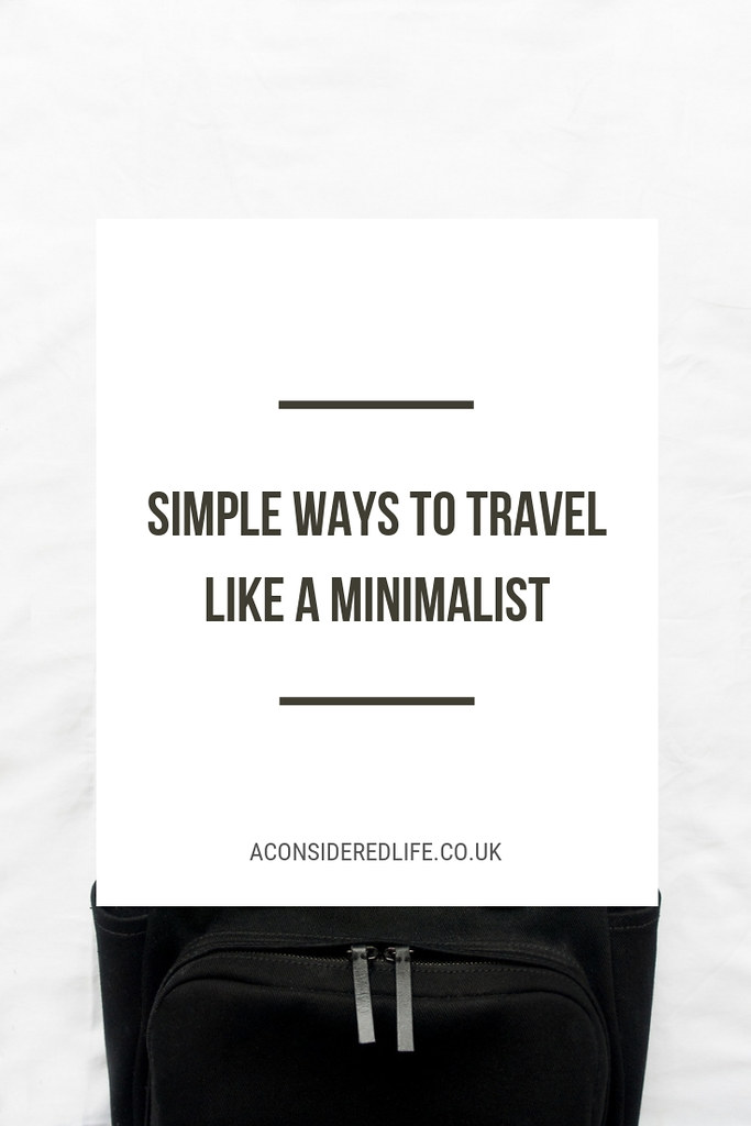 How To Travel Like A Minimalist