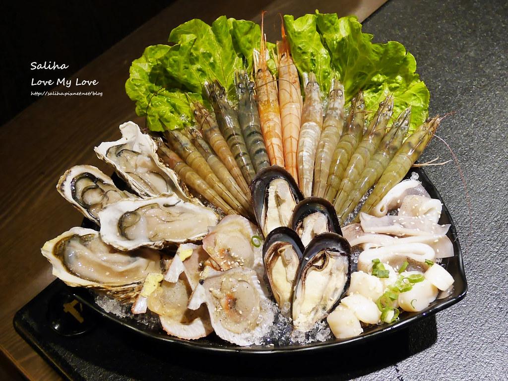 台北東區瓦崎敦南店燒烤火鍋生猛海鮮牛排生蠔吃到飽  (1)