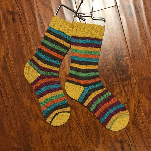 The Vanilla socks that Nik knit while on vacation!