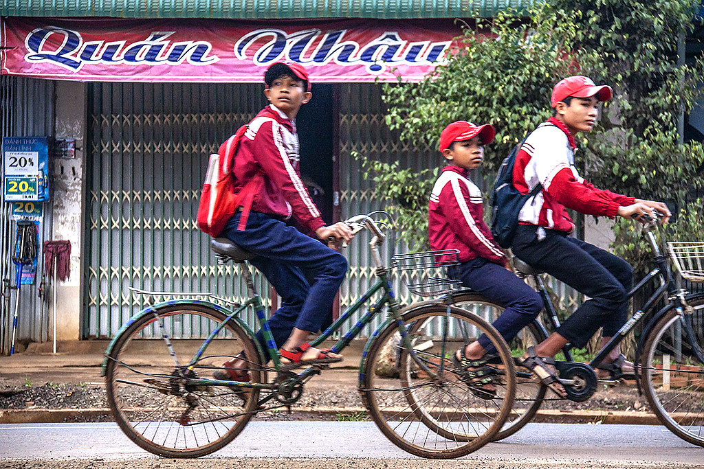Three boys on bicycles on 1-19-19--Ea Kly