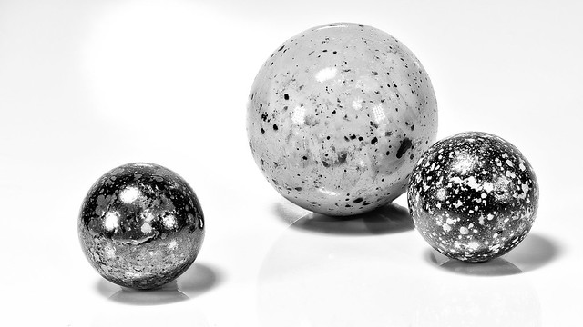 Speckled Glass Marbles
