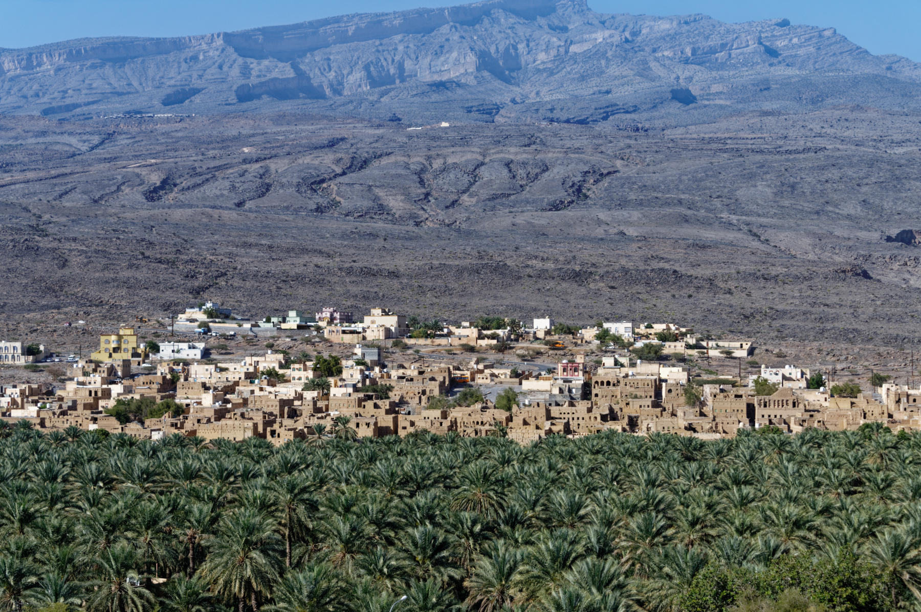 Al Hamra, Oman, seen from across its plantation
