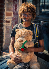 Street Portrait with her bear