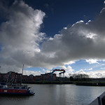 Clouds getting darker over Preston Docks