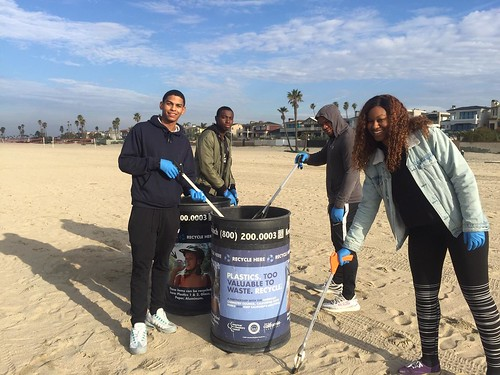 While in port at Naval Weapons Stations Seal Beach, 21 Sailors assigned to the Ticonderoga-class guided missile cruiser USS Bunker Hill, volunteered for a Community Relations project to clear litter and debris from Seal Beach's waterfront, March 5.