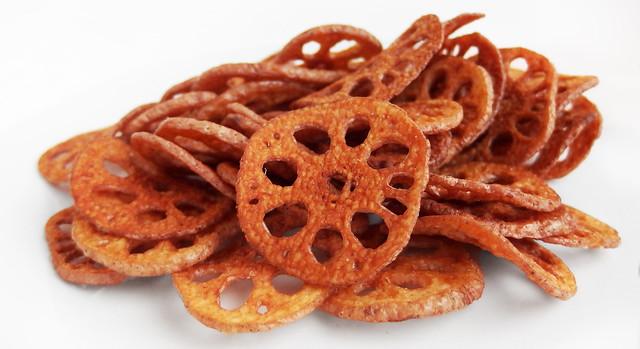 Lotuswortel Chips
