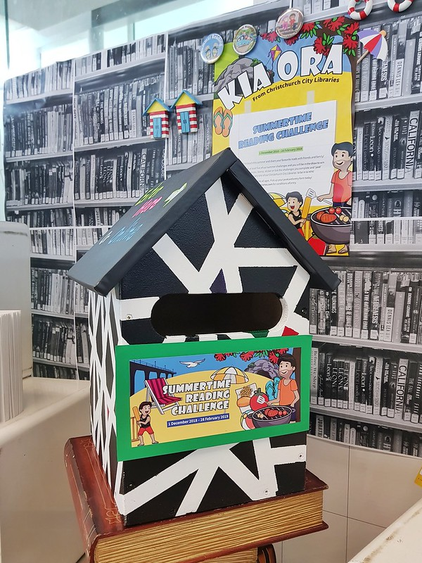 Upper Riccarton Summertime Reading Challenge postbox