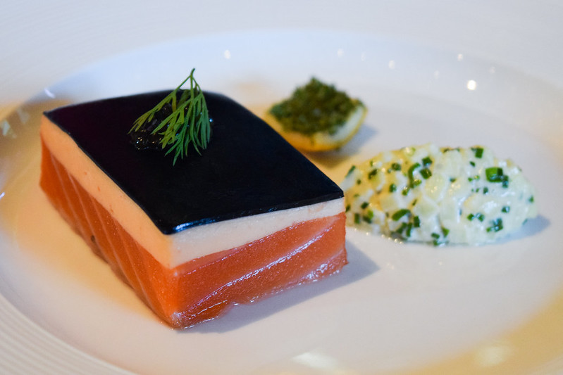 Cured Salmon with Black Apple Jelly by Tom Kerridge