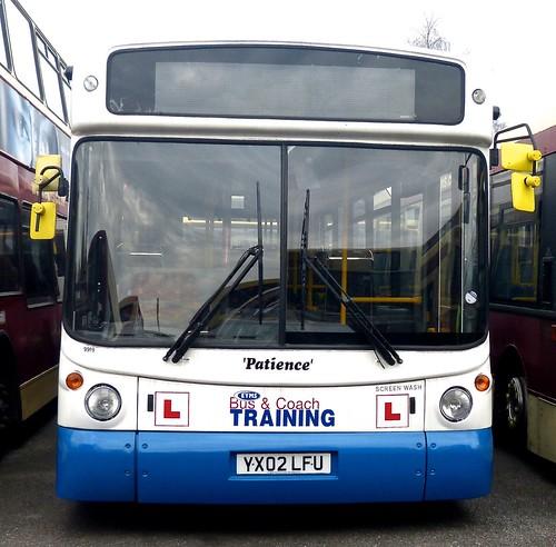 YX02 LFU 'East Yorkshire Motor Services' No. 9919 'Patience'. MAN 18-220 / Alexander ALX 300 on Dennis Basford's railsroadsrunways.blogspot.co.uk'
