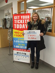 Marie Taylor, Winner of $2,500