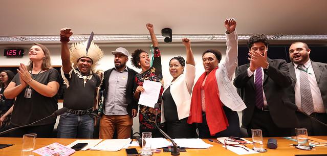 Representantes de entidades da sociedade civil organizada durante ato político na Câmara dos Deputados, em Brasília (DF) - Créditos: Lula Marques/ PT na Câmara