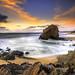 Sunset in Santa Cruz beach, Torres Vedras by silvinodasilvaphotography