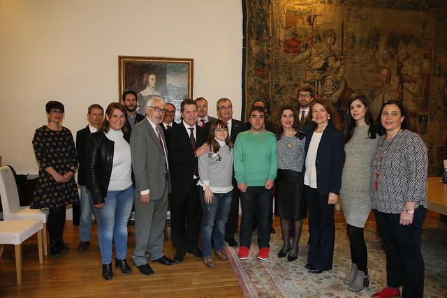 Firma de acuerdos con Down Toledo y Cruz Roja Española para la cesión de espacios