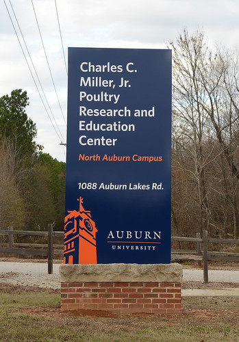 Sign at the entrance to the Charles C. Miller Jr. Poultry Research and Education Center.