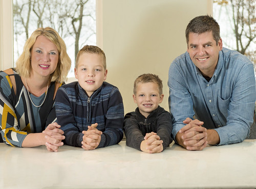 Ashleigh and Andrew Walters and their sons Jackson and Carson