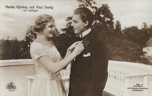Renée Björling and Paul Seelig in En vildfågel (1921)