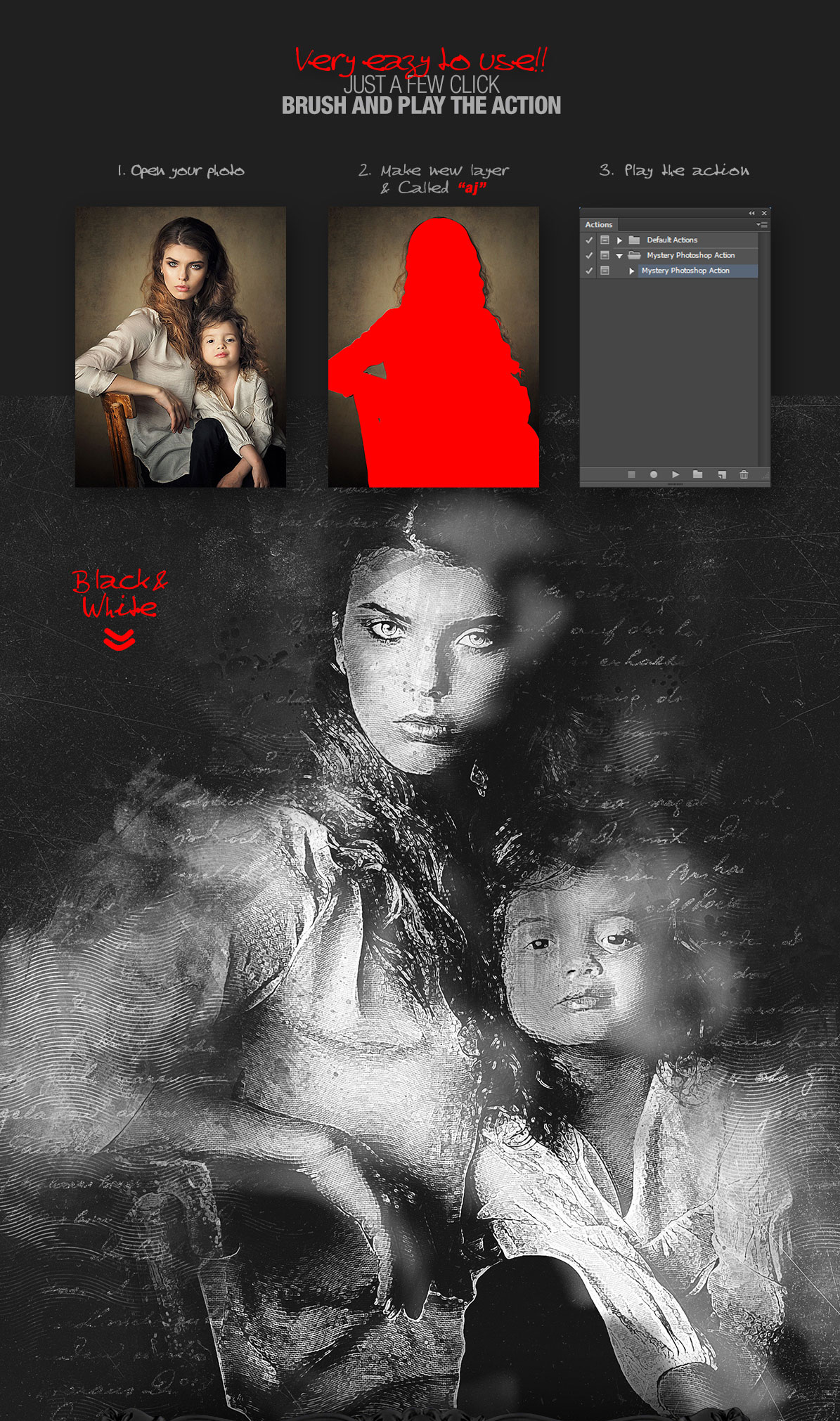 Mystery Action Photoshop CS3+, mystic action for Photoshop