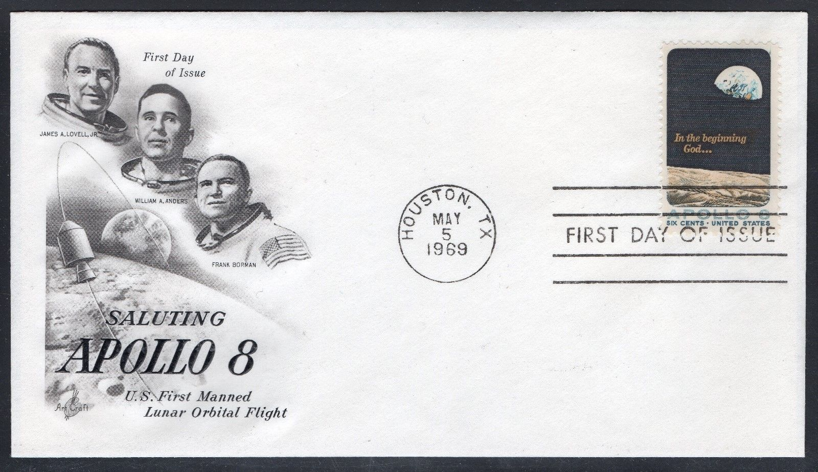 United States - Scott #1371 (1969) first day cover, ArtCraft cachet
