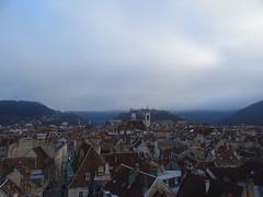 Vue de Besançon, au sommet de la roue ( 35m de hauteur)