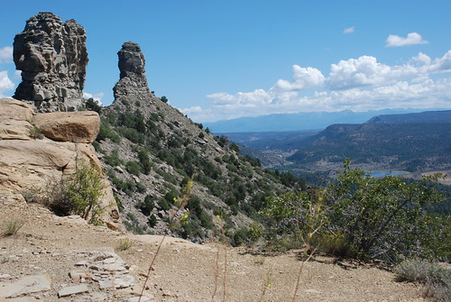 Chimney Rock and Companion Rock. From History Comes Alive at Chimney Rock National Monument