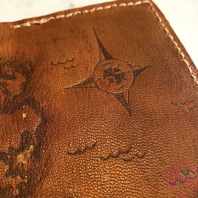 Toronto Pen Company Traveler's Notebook Leather Covers with Pyrography & Paintings 21