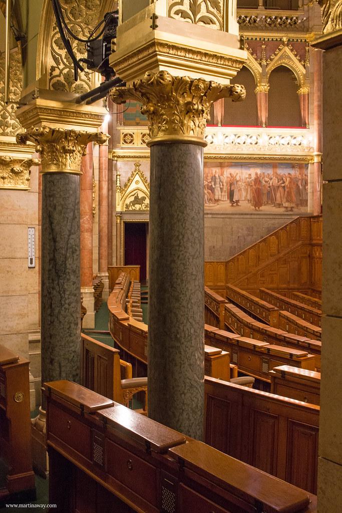 Parlamento di Budapest: Sala delle sedute della Camera Alta