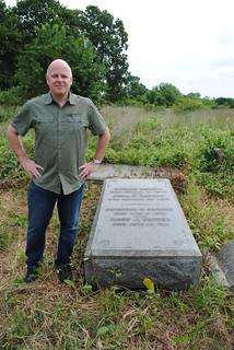 William Barber gravestone with Heath MacAlpine