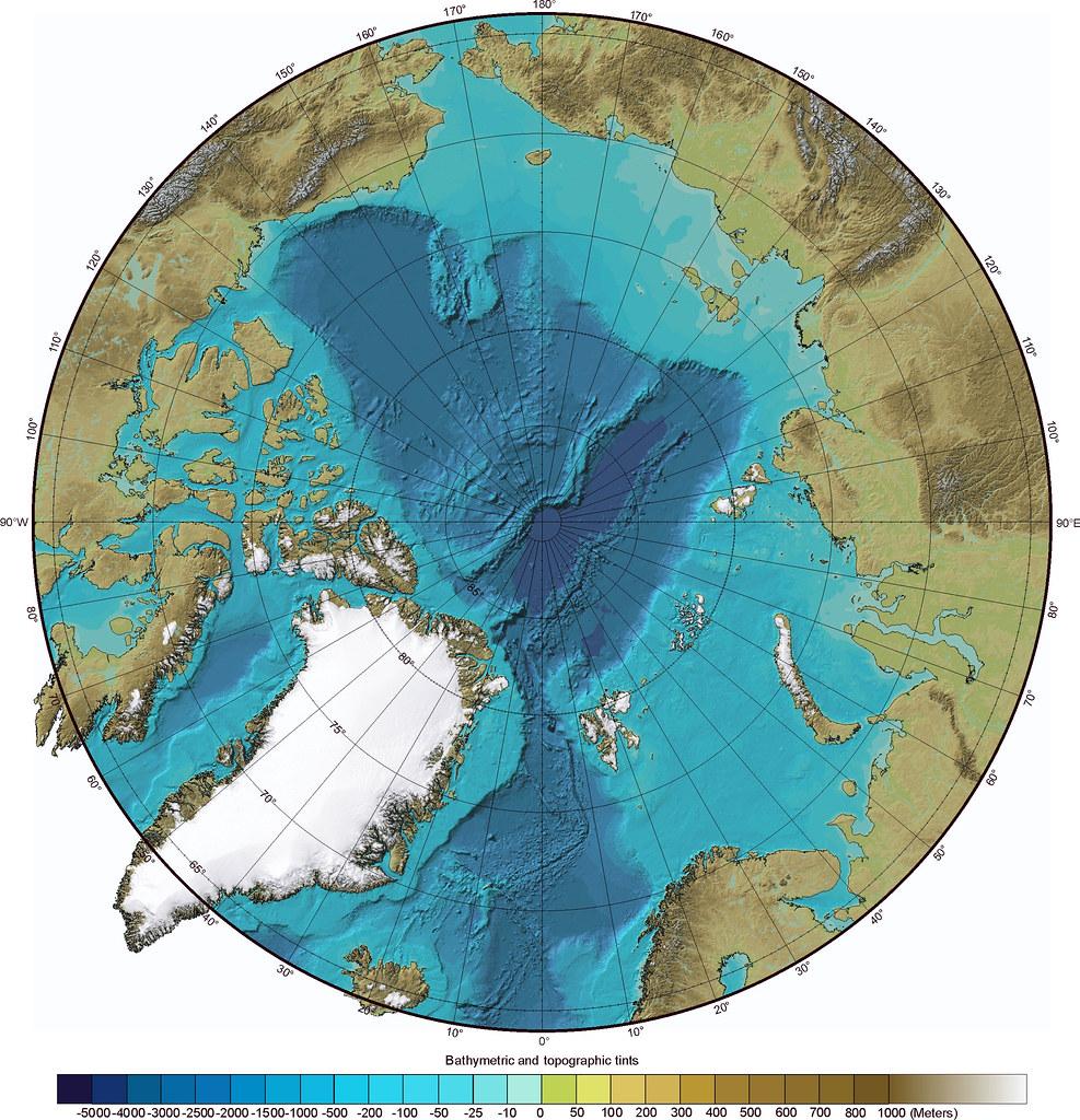 Гренландия - вид на Северный полюс