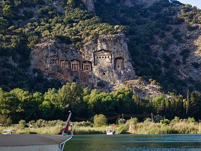 Lycian tombs, Dalyan, Turkey, Sony DSC-RX100M2, Sony 28-100mm F1.8-4.9
