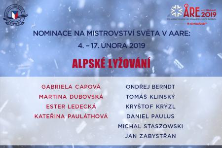 Ledecká, Krýzl i dva nováčci. Nominace na MS alpských lyžařů čítá deset jmen