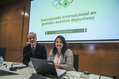 27/02/2019 - Masterclass sobre voluntariado internacional en grandes eventos deportivos a estudiantes de CAFyD