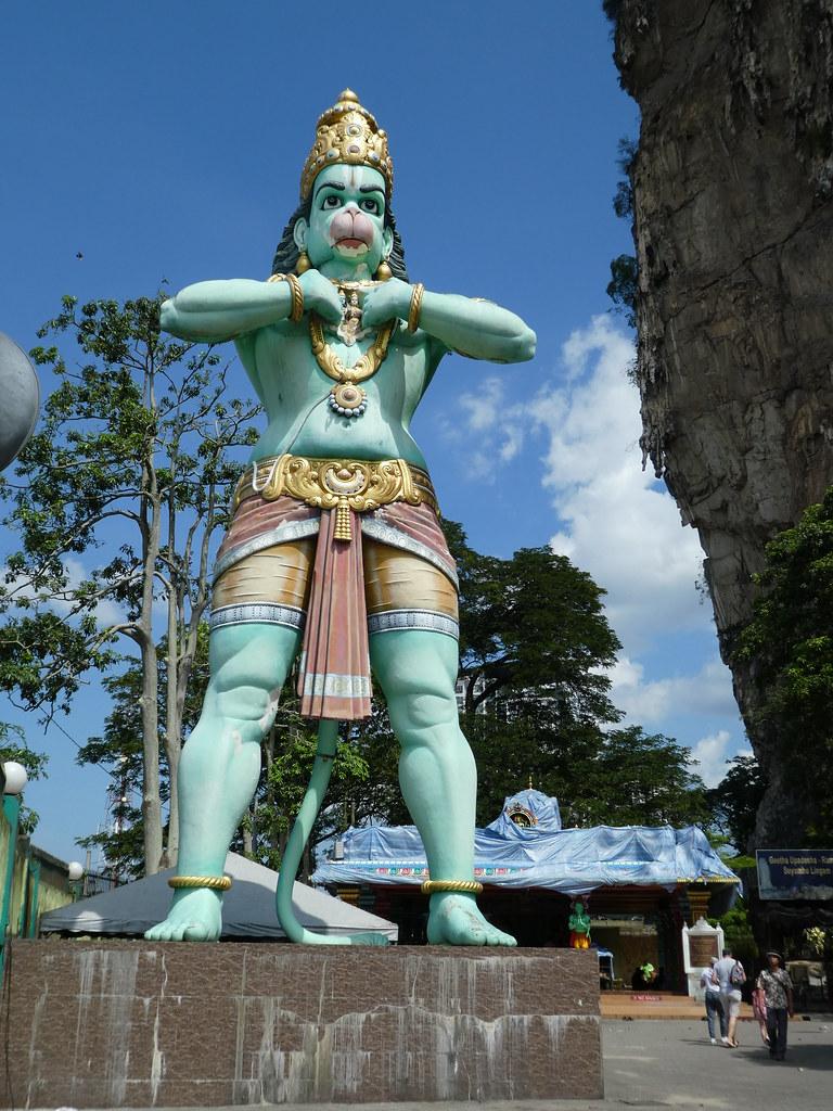 The statue of Hanuman at Batu Caves