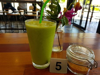 Matcha Smoothie (minus coconut yoghurt) at Cup and Wells