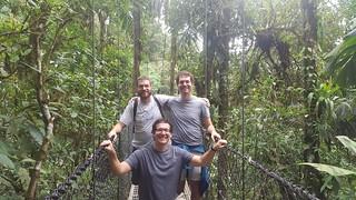 Brothers on a bridge