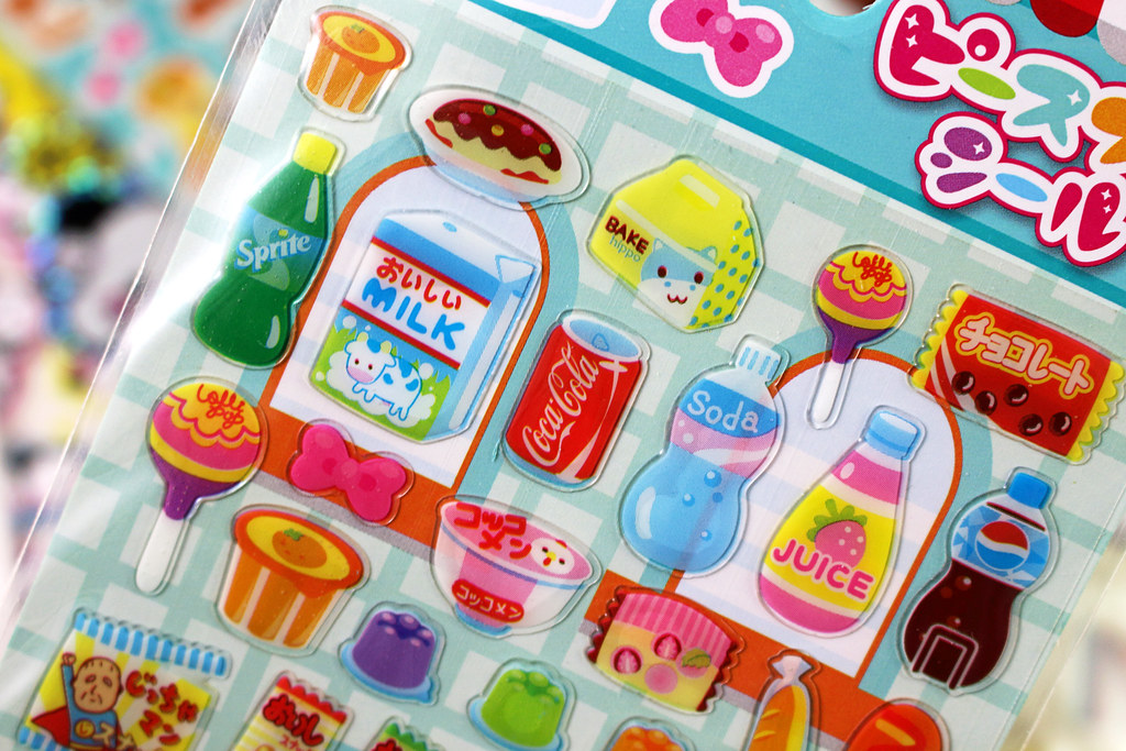 Kawaii Sweets & Snacks Shop Stickers