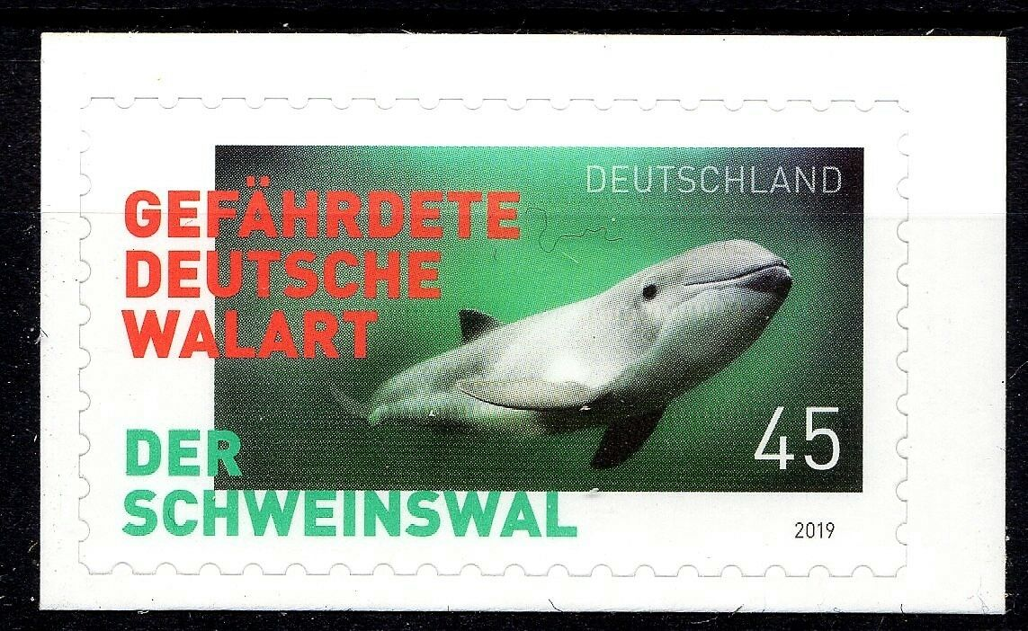 Germany - Endangered Species: Harbor Porpoises (January 2, 2019) self-adhesive