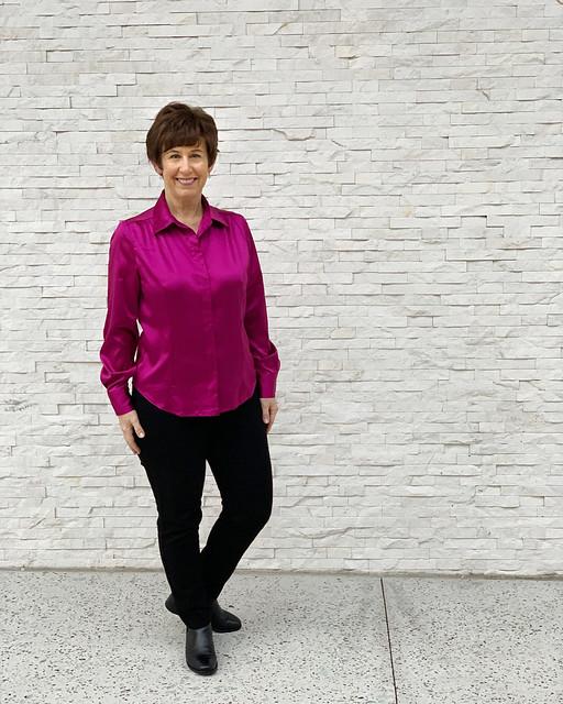 Pink silk shirt 2