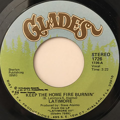 LATIMORE:KEEP THE HOME FIRE BURNIN'(LABEL SIDE-A)