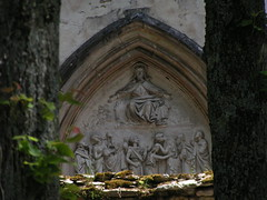 20080523 28297 Montbard Tympanon Jesus Pantokrator Mauer - Photo of Quincy-le-Vicomte