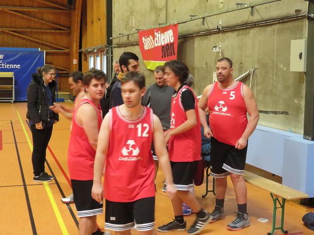 Championnat Régional de Basket Sport Adapté - zone Ouest - plateau 2 - Saint-Etienne (42) - 12 janvier 2019