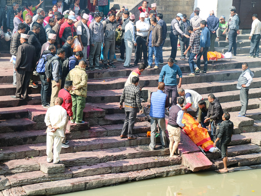 Templo de las cremaciones en Katmandú